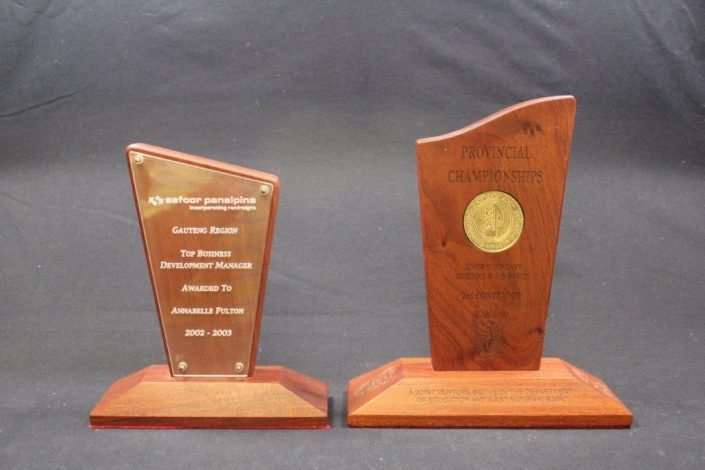 Custom Designed Metal & Wood Trophies
