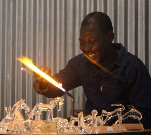 Glass Blowing, Award Manufacturing Specialists, Shades of Ngwenya