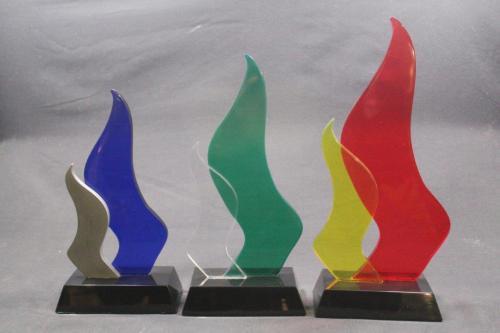 Custom Designed Crystal Glass Trophies